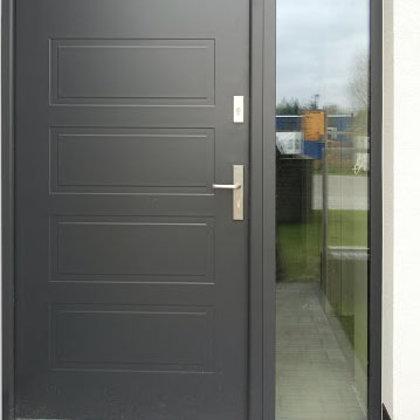 M13 durvis, antracīta, ar vienu sānu REFLEX stikla paneli