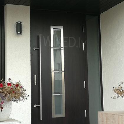 M12 B durvis, wenge, ar papildu fiksēto rokturi, ar matēta stikla sāna paneli
