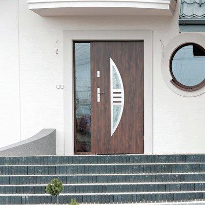 M24 durvis, mahagona, ar vienu sāna REFLEX stikla paneli